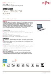 Data Sheet Fujitsu LIFEBOOK E751 Notebook - eD' system Czech, as