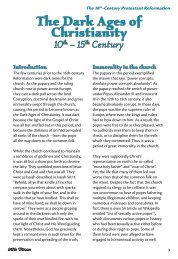 The Dark Ages of Christianity - Bible Witness