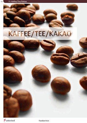 11. Kaffee/Tee/Kakao Foodservice