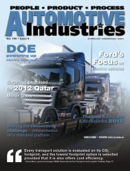 Automotive Industries - Eco-friendly commercial vehicle delivery