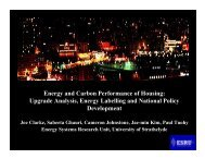 Energy and Carbon Performance of Housing - Scottish Energy ...