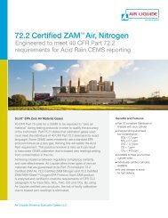 72.2 Certified ZAM Air and Nitrogen - Air Liquide America Specialty ...