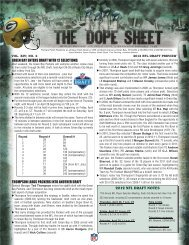 Packers 2012 Draft Preview Dope Sheet.indd - NFL.com