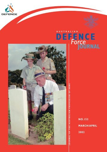 ISSUE 153 : Mar/Apr - 2002 - Australian Defence Force Journal