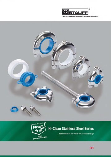 Product Catalogue Hi-Clean Stainless Steel Series - Stauff