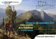 course etape - Club Alpin Francais - Albertville