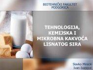 Tehnologija, kemijska i mikrobna kvaliteta lisnatog sira