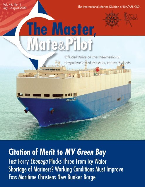 Citation of Merit to MV Green Bay - The International Organization of ...