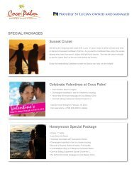 SPECIAL PACKAGES Sunset Cruise Celebrate ... - Coco Palm