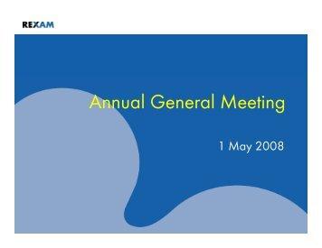 Annual General Meeting - Rexam