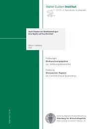 View - Abteilung für Wirtschaftspolitik und Ordnungstheorie - Albert ...
