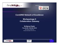 WP9 - CoreGRID Network of Excellence