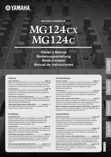 MG124cx MG124c Owner's Manual