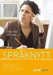 Språknytt 1/2010 - Språkrådet