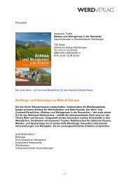 Ausflugs- und Reisetipps zu Wein & Genuss