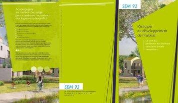 Participer au développement de l'habitat - SEM 92