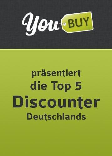 Die 5 größten Discounter Deutschlands