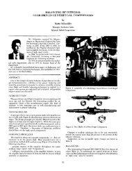 balancing of integral gear-driven centrifugal compressors
