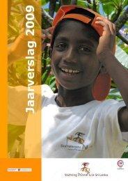 Jaarverslag 2009 - Stichting Weeshuis Sri Lanka