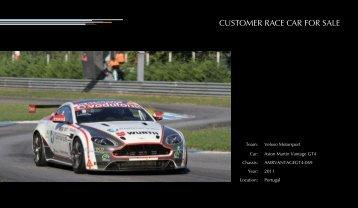 CUSTOMER RACE CAR FOR SALE - Aston Martin