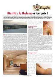 Biarritz : la thalasso à tout prix ! D - Le Canard Gascon