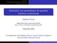 Estimation non-paramétrique de quantiles ... - Mistis - Grenoble
