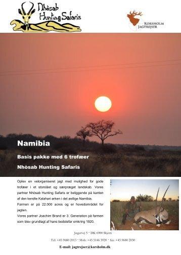 Namibia - Korsholm Jagtrejser