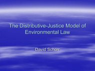 Environmental Law and Distributive Justice in the 21st Century