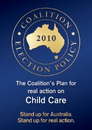 the coalition's plan for real action on child care - Liberal Party of ...