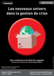 Les nouveaux univers dans la gestion de crise - Patrick Lagadec