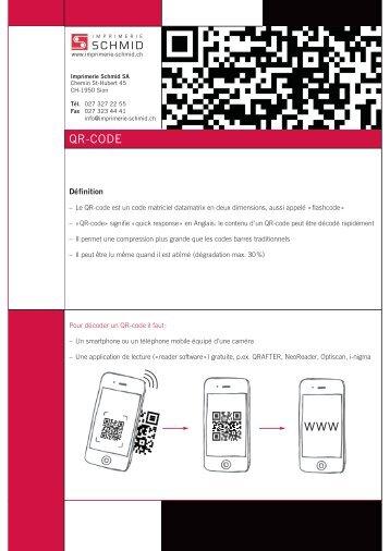 Informations sur le Qr-Code - Imprimerie Schmid