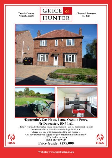 'Duncruin', Gas House Lane, Owston Ferry, Nr ... - Grice & Hunter