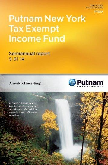 New York Tax Exempt Income Fund Semi-Annual Report - Putnam ...
