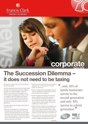 Corporate Newsletter - Spring 2012 - Francis Clark