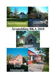 Årsmelding BKA 2010 Gråstua - Kommune