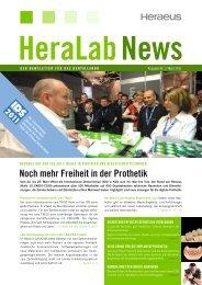 HeraLab News 01/2011 - Heraeus Dental
