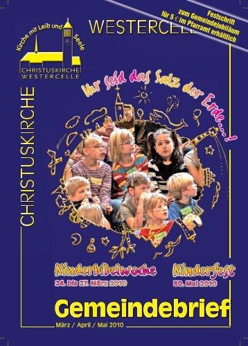 März / April / Mai - Kirchengemeinde Westercelle