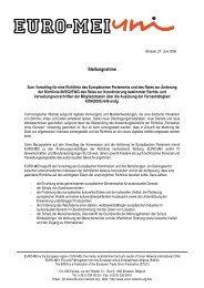 EURO-MEI zur EU-Richtlinie »Fernsehen ohne Grenzen
