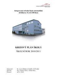 krizový plán školy školní rok 2010/2011 - Integrovaná střední škola ...