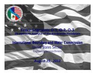 Presentation - International Boundary and Water Commission