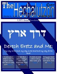 Issue #3 - United Synagogue Youth
