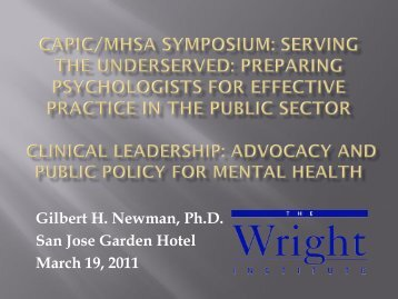 Advocacy for Public Mental Health Service - capic