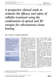 A prospective clinical study to evaluate the efficacy and safety of ...