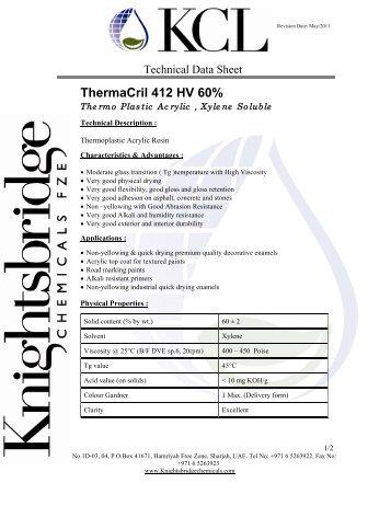 ThermaCril 412 HV 60% - Knightsbridge Chemicals Ltd.
