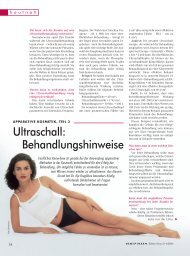 Ultraschall: Behandlungshinweise - Wellcomet