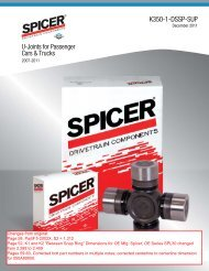 Spicer U-Joints for Passenger Cars & Trucks - CARQUEST Auto Parts
