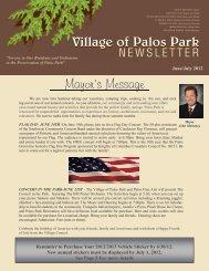 June 2012 - Village of Palos Park, Illinois