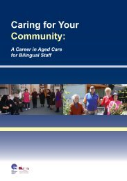 Caring for Your Community: - Ethnic Communities Council of Victoria