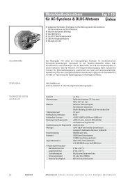 Motorfeedbacksysteme für AC-Synchron & BLDC-Motoren Typ F 10 ...
