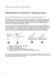 SHAPTON Kubo for Professionals – Gebrauchsanleitung
